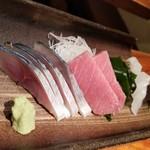 魚哲 - 刺し盛(2人前)(1900円)の2回目(2人分)