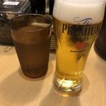 博多 一幸舎 - ドリンク写真:おつまみBのグラスビールはプレモルでした