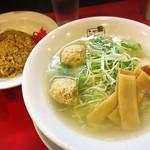 江南 - 小炒飯セット(塩らーめん)