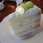 えの木てい - メロンのショートケーキ