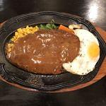 ブルドック - 料理写真:ジャンボハンバーグステーキ(400g)