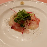 ピッツェリア・サバティーニ - 鮮魚のカルパッチョ洋梨のヴィグレットソース