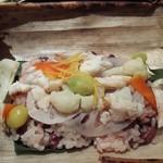 92702874 - 鯛と小豆のご飯