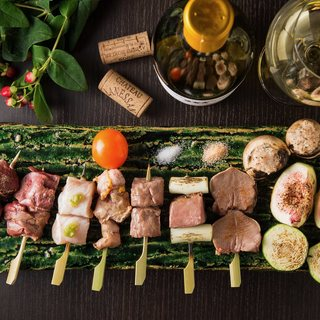 【串料理×ワイン】しっとり飲みたい創作串料理屋