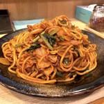 ロメスパ バルボア - ナポリタン特盛り(950円)+玉ねぎ、小松菜追加(各50円)