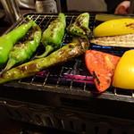 あぶり渋屋 - あぶり野菜盛り合わせ@浜焼きコース