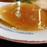 支那そばや - 第1段階のスープ