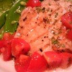 アン カルネ - ポークグリル トマトと梅のソース