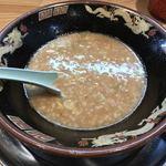 宮崎とんこつラーメン 風来軒 - 麺を食べ終わったら・・・
