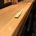 辨慶 - このカウンターに、怖じ気ないでいただけるのは、オーナーご夫婦の温かさです(2018.9.14)