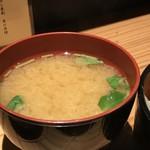 辨慶 - しっかりとお味噌の美味しい味噌汁(2018.9.14)