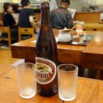 ふく屋 - 瓶ビール大600円