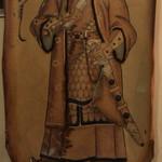92719218 - 店内に飾られているモンゴルの英雄、チンギス=ハーンの肖像画。