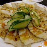 中国料理 登竜門 - ゆで豚スライスにんにくソース