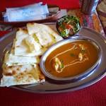本格印度料理バターチキン - チキンカレーとチーズナン♪