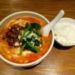 京華樓 - 四川タンタン刀削麺に、サービスのライス