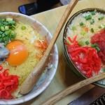 まつ里亭 - 牡蠣お好み焼きと明太子もんじゃ