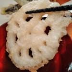 粗挽き蕎麦 トキ - [料理] 蓮根天 アップ♪w