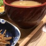 92726821 - 味噌汁がでかい!