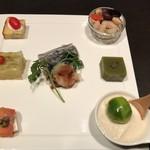 Koideya - 前菜の盛り合わせ
