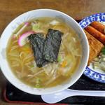みよぞの食堂 - 料理写真:中華そば withおかず(ウィンナー等