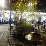 スカイビューフードコート池袋屋上ビアガーデン東武 - 雰囲気はかなり良好。