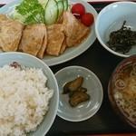 カネチャンラーメン - しょうが焼き定食 840円