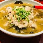 餃子広場 - 白身魚の煮込み。