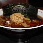 友部サービスエリア(上り線)味の蔵 - 料理写真:友部黒醤油なっとうラーメン 700円