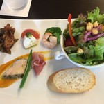 喜右エ門 - プリモランチの前菜盛り合わせ
