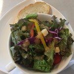 喜右エ門 - パスタランチのサラダ
