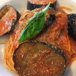 喜右エ門 - 茄子とトマトソースのスパゲティ−二
