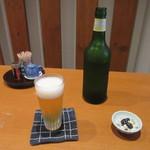 七つ海堂 - ビール「ハートランド」お通し