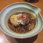 七つ海堂 - 「牛すじ煮込み(煮玉子入り)」