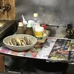 下山酒店 - 奥の方に美味しそうな魚発見