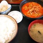 もつ煮の店 まつい - 料理写真:ゴジラ定食