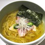 Japanese Ramen Noodle Lab Q - 柚子香る塩煮干しSoba_830円