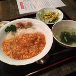 中華ダイニング 貫 - エビチリ玉子丼セット880円