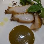 エノテカラウラ - 料理写真:能登のあわびと肝