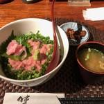 美食酒家 うまか - ネギトロ丼(お味噌汁&お漬物付き)