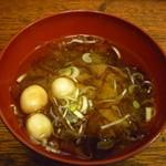新浜食堂 - ふのりのお味噌汁