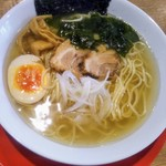 農村かふぇ ハレルヤ - 煮干しラーメン(細麺)♪