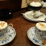 92773728 - カフェカプチーノとコーヒーゼリー♪