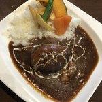 ふぅわ黒毛和牛ハンバーグ - ハンバーグ&ハヤシライス  1260円