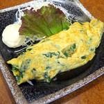 伽羅 - 料理写真:にら玉オムレツ¥500