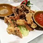シンガポール 海南鶏飯 - ソフトシェルクラブの唐揚げ