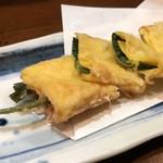 和食居酒屋 旬門 - 葉ねぎの天ぷら