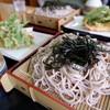 千両 - 料理写真:ざる蕎麦 明日葉天ぷら3枚付き