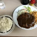 フジランチ - ジャンボハンバーグ(930円)税込【平成30年09月13日撮影】