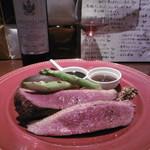 エルボリン - 料理写真:赤ボトル、鴨ソテー